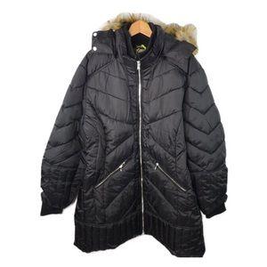 NWT Celsius Premium Black Vegan Puffer Jacket 3XL